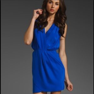 Amanda Uprichard Blue Silk Dress